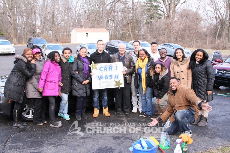 Church of God in Philadelphia Hosts Neighborhood Car Wash