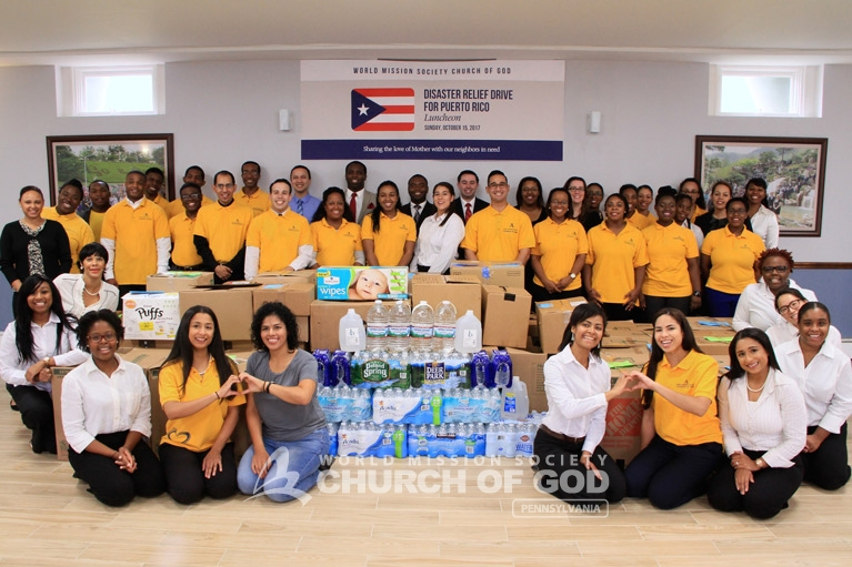 Puerto Rico, Disaster Relief, drive, Hurricane Maria, World Mission Society Church of God, WMSCOG, donations, food, packages, support, volunteer, volunteerism, Pennsylvania, PA, Philadelphia, Pittsburgh, PR